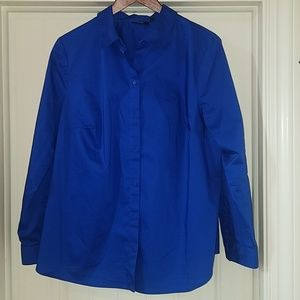 Royal Blue Dress Work Blouse